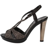 Schoenen Dames Sandalen / Open schoenen Phil Gatiér sandali nero raso strass AC791 Nero