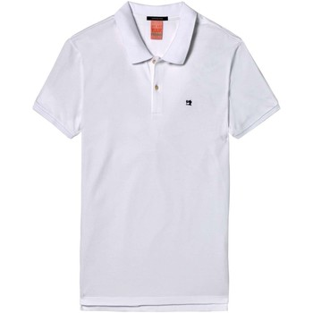 Textiel Heren Polo's korte mouwen Scotch & Soda Classic clean pique polo Wit