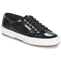 Schoenen Dames Lage sneakers Superga 2750-LEAPATENTW Zwart