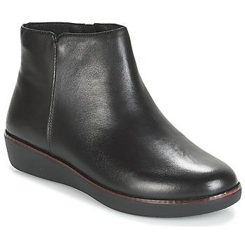 Schoenen Dames Laarzen FitFlop ZIGGY ZIP Zwart