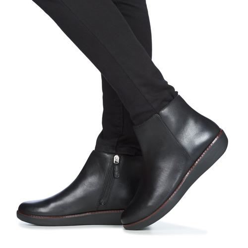 FitFlop ZIGGY ZIP Zwart - Gratis levering  Schoenen Laarzen Dames