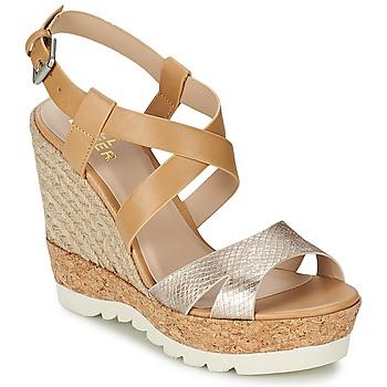 Schoenen Dames Sandalen / Open schoenen Bullboxer GLADOU Bruin / Zilver