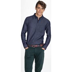Textiel Heren Overhemden lange mouwen Sols BARRY MEN DENIM Azul