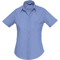 Textiel Dames Overhemden Sols ESCAPE POPELIN WOMEN Azul