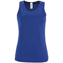 Textiel Dames Mouwloze tops Sols SPORT TT WOMEN Azul