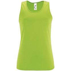 Textiel Dames Mouwloze tops Sols SPORT TT WOMEN Verde