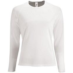 Textiel Dames T-shirts met lange mouwen Sols SPORT LSL WOMEN Blanco