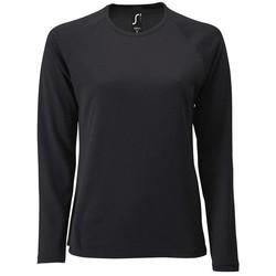 Textiel Dames T-shirts met lange mouwen Sols SPORT LSL WOMEN Negro