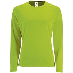Textiel Dames T-shirts met lange mouwen Sols SPORT LSL WOMEN Verde