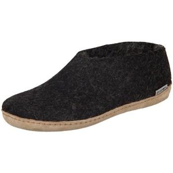 Schoenen Dames Sloffen Glerups DK Shoe Charcoal Lammwollfilz Zwart