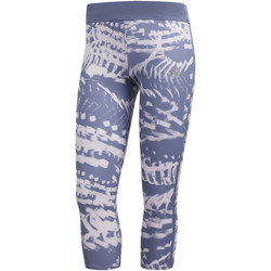 Textiel Dames Leggings adidas Performance Response 3/4 Graphic Legging blue
