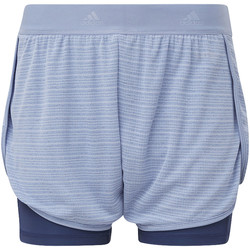 Textiel Dames Korte broeken / Bermuda's adidas Performance Two-in-One Chill Short Blauw