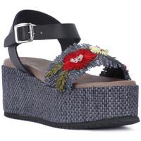 Schoenen Dames Sandalen / Open schoenen Café Noir CAFE NOIR SANDALO FASCIA Nero