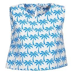 Textiel Dames Mouwloze tops Suncoo LANA Wit / Blauw