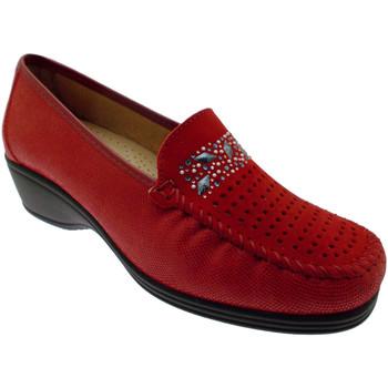 Schoenen Dames Mocassins Calzaturificio Loren LOK3988ro rosso