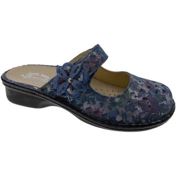 Schoenen Dames Leren slippers Calzaturificio Loren LOM2709bl blu
