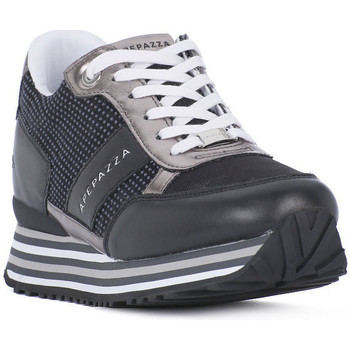 Schoenen Dames Lage sneakers Apepazza BLK INNER WEDGE RUNNING Nero