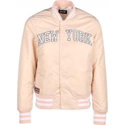 Textiel Dames Wind jackets Schott Blouson JKT STADIUM   Brode New York  Blush Rose Clair Roze