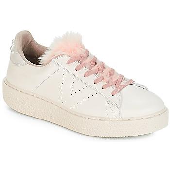Schoenen Dames Lage sneakers Victoria DEPORTIVO PIEL PERLAS Beige