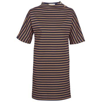 Textiel Dames Korte jurken Petit Bateau TUESDAY Marine / Geel
