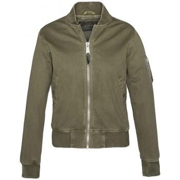 Textiel Dames Wind jackets Schott Blouson BOMBER   Camo Kaki Groen