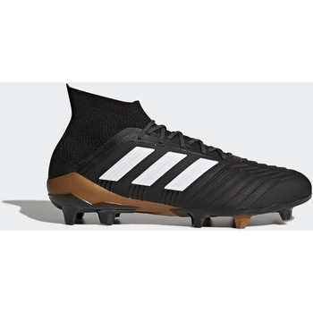 Schoenen Heren Sneakers adidas Performance Predator 18.1 Firm Ground Voetbalschoenen Zwart / Wit / Oranje