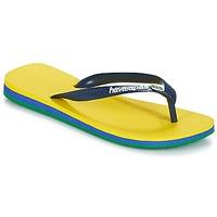Schoenen Teenslippers Havaianas BRASIL LAYERS Geel