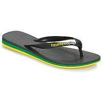 Schoenen Heren Teenslippers Havaianas Brasil Layers Zwart