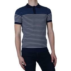 Textiel Heren Polo's korte mouwen Antony Morato Polo yarn striped Blauw