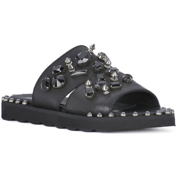 Schoenen Dames Leren slippers Juice Shoes ONDA NERO Nero