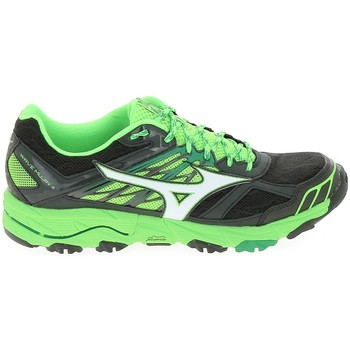 Schoenen Heren Running / trail Mizuno Wave Mujin 4 Noir Vert Zwart