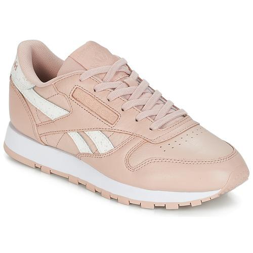590edf35680 Schoenen Dames Lage sneakers Reebok Classic CLASSIC LEATHER Roze / Wit