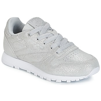 Schoenen Meisjes Lage sneakers Reebok Classic CLASSIC LEATHER C Zilver