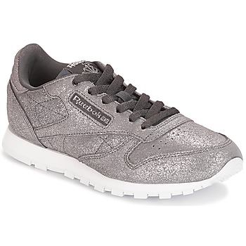 Schoenen Meisjes Lage sneakers Reebok Classic CLASSIC LEATHER J Grijs / Metaal