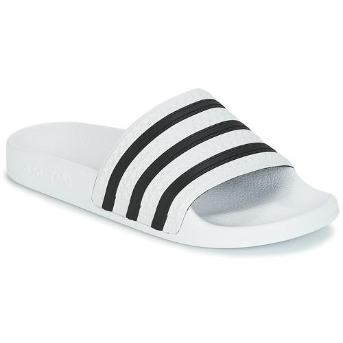 Schoenen slippers adidas Originals ADILETTE Wit / Zwart