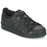 Schoenen Kinderen Lage sneakers adidas Originals SUPERSTAR C Zwart