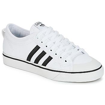 Schoenen Lage sneakers adidas Originals NIZZA Wit / Zwart