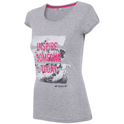 Textiel Dames T-shirts & Polo's 4F Women's T-shirt H4Z17-TSD002GREY