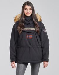 Textiel Dames Parka jassen Napapijri SKIDOO Zwart