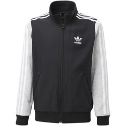 Textiel Jongens Trainings jassen adidas Originals GRPHC BB Trainingsjack Zwart / Grijs / Grijs