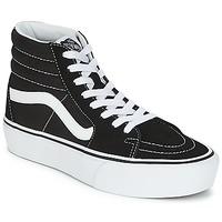 Schoenen Dames Hoge sneakers Vans SK8-HI PLATFORM 2.1 Zwart / Wit