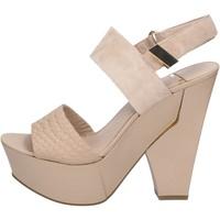 Schoenen Dames Sandalen / Open schoenen Marciano sandali beige camoscio pelle BZ430 Beige
