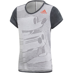 Textiel Meisjes T-shirts korte mouwen adidas Performance Disney The Mouse T-shirt Grijs / Wit / Zwart
