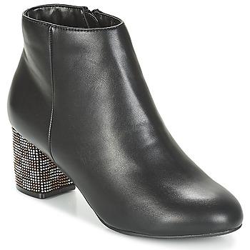 Schoenen Dames Enkellaarzen Moony Mood JAPSERA Zwart