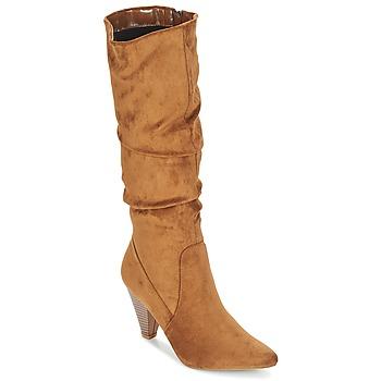 Schoenen Dames Hoge laarzen Moony Mood JULMA Bruin