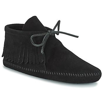Schoenen Dames Laarzen Minnetonka CLASSIC FRINGE Zwart