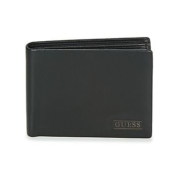 Tassen Heren Portefeuilles Guess NEW BOSTON BILLFOLD W/COIN POCKET Zwart