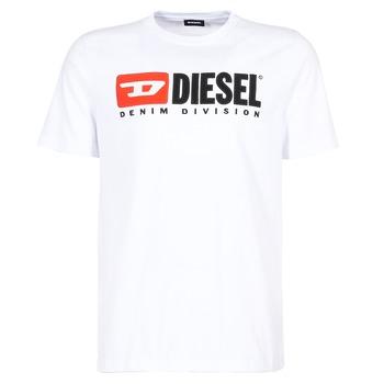Textiel Heren T-shirts korte mouwen Diesel T JUST DIVISION Wit