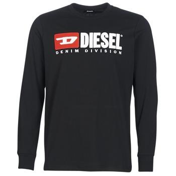 Textiel Heren T-shirts met lange mouwen Diesel T JUST LS DIVISION Zwart