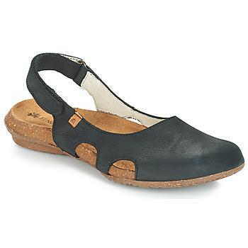 Schoenen Dames Sandalen / Open schoenen El Naturalista WAKATAUA Zwart
